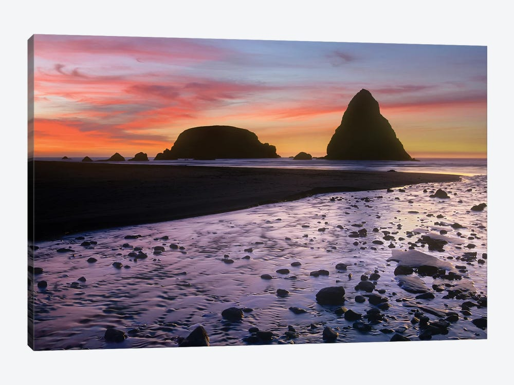 Whaleshead Beach With Sea Stacks, Oregon by Tim Fitzharris 1-piece Canvas Print