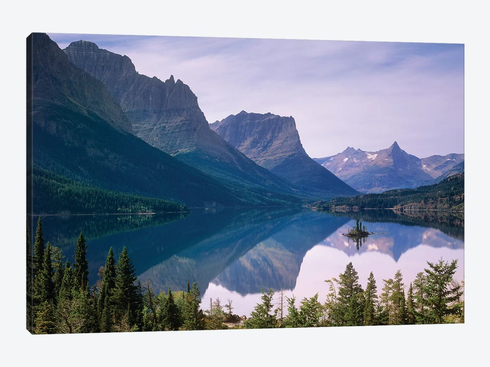 Wild Goose Island In St Mary's Lake, Glacier National Park, Montana by Tim Fitzharris 1-piece Canvas Artwork