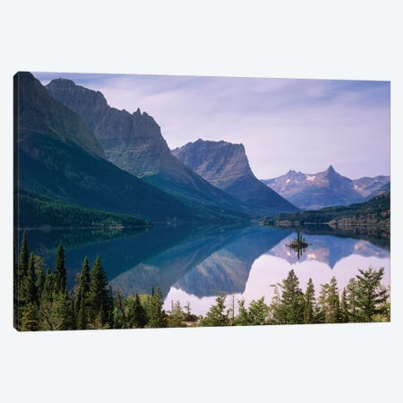 Wild Goose Island In St Mary's Lake, Glacier National Park, Montana Canvas Print #TFI1157} by Tim Fitzharris Canvas Artwork