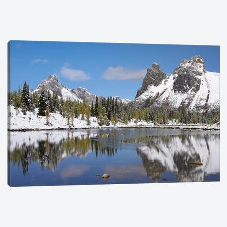 Wiwaxy Peaks And Cathedral Mountain At Lake O'Hara, Yoho National Park, British Columbia, Canada II Canvas Print #TFI1176} by Tim Fitzharris Canvas Art