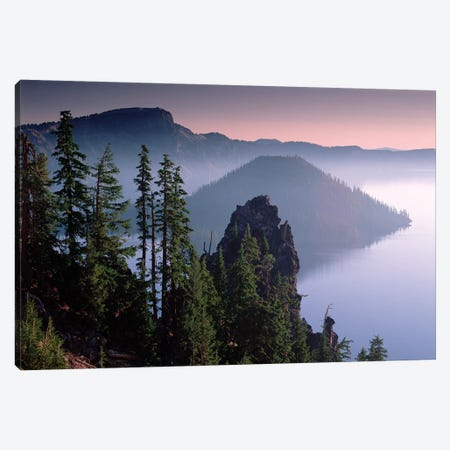 Wizard Island In The Center Of Crater Lake, Crater Lake National Park, Oregon Canvas Print #TFI1177} by Tim Fitzharris Canvas Wall Art