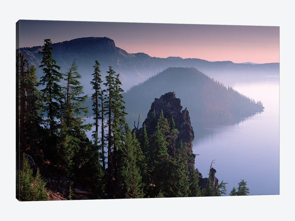 Wizard Island In The Center Of Crater Lake, Crater Lake National Park, Oregon by Tim Fitzharris 1-piece Canvas Wall Art