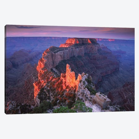 Wotans Throne At Sunrise From Cape Royal, Grand Canyon National Park, Arizona Canvas Print #TFI1181} by Tim Fitzharris Canvas Artwork
