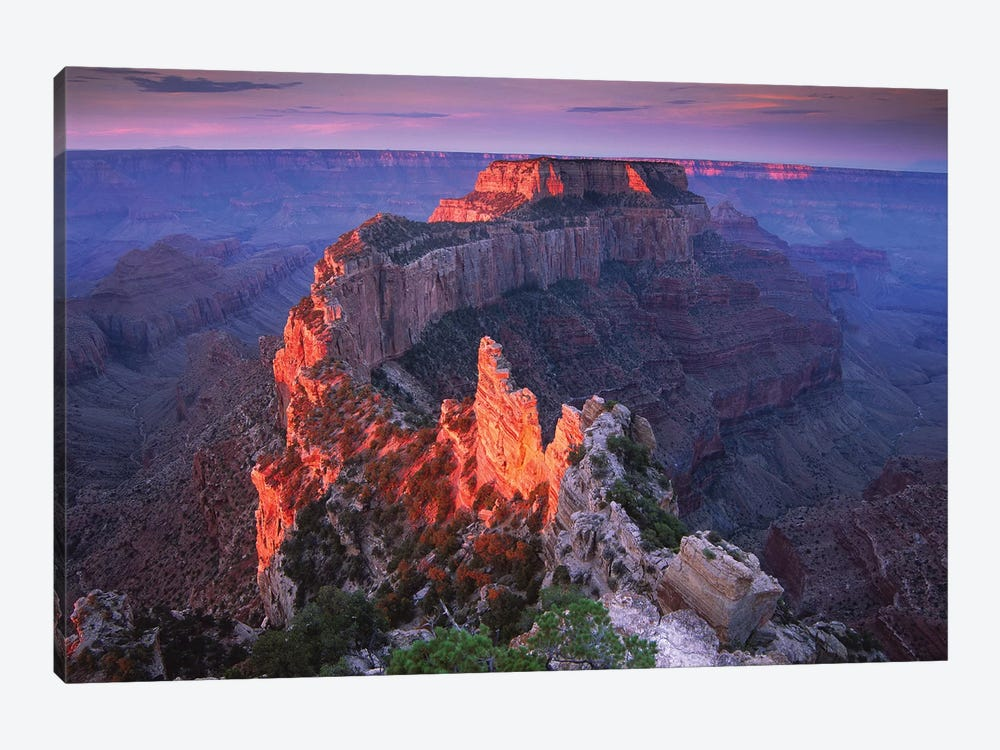 Wotans Throne At Sunrise From Cape Royal, Grand Canyon National Park, Arizona by Tim Fitzharris 1-piece Art Print