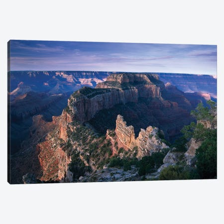 Wotans Throne From Cape Royal, North Rim, Grand Canyon National Park, Arizona Canvas Print #TFI1182} by Tim Fitzharris Canvas Art