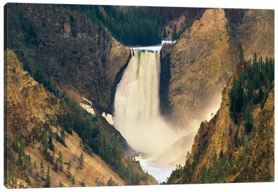 Yellowstone Falls And Grand Canyon Of Yellowstone National Park, Wyoming Canvas Art Print