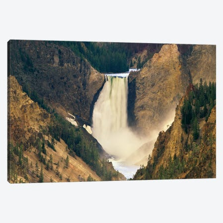 Yellowstone Falls And Grand Canyon Of Yellowstone National Park, Wyoming 3-Piece Canvas #TFI1189} by Tim Fitzharris Canvas Art