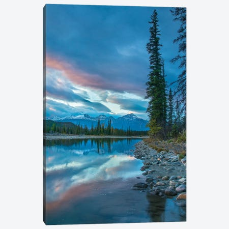 Athabasca River And Colin Range, Rocky Mountains, Jasper National Park, Alberta, Canada Canvas Print #TFI1196} by Tim Fitzharris Canvas Artwork