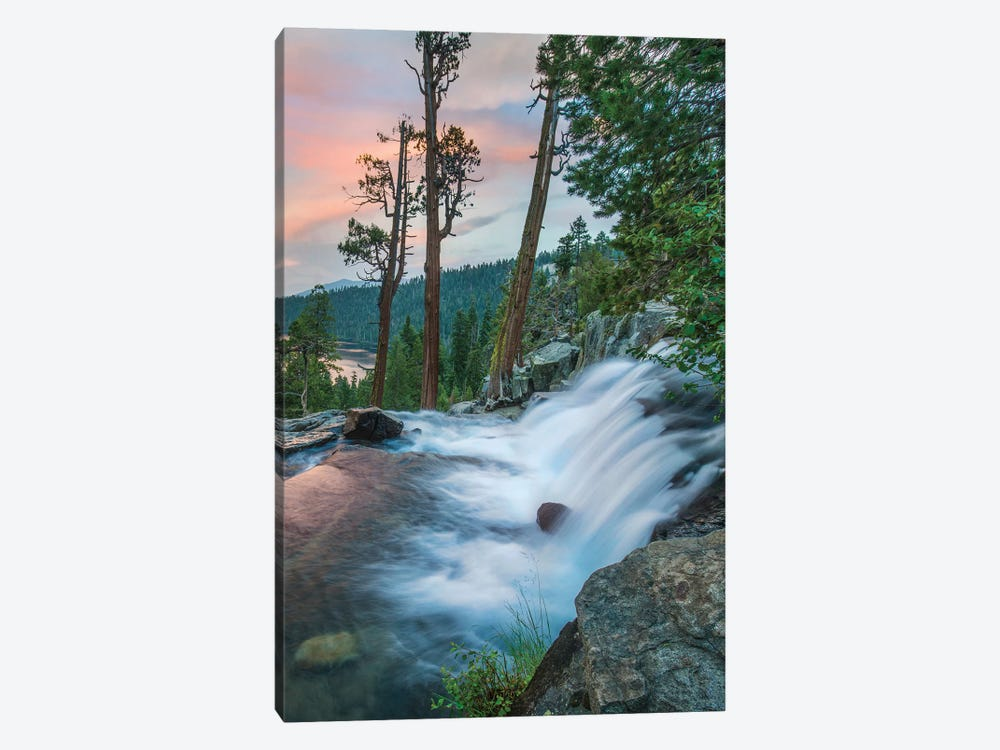 Eagle Falls At Twilight, Eldorado National Forest, California 1-piece Canvas Art