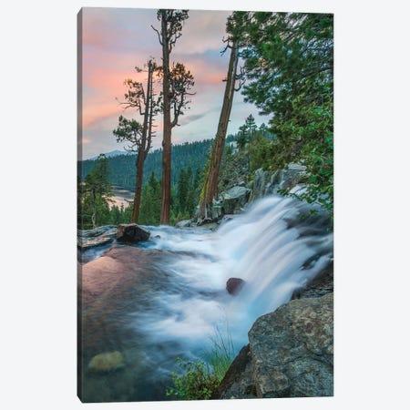 Eagle Falls At Twilight, Eldorado National Forest, California Canvas Print #TFI1204} by Tim Fitzharris Canvas Wall Art