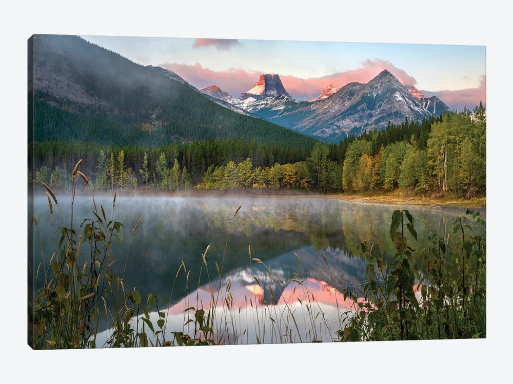 Fortress Mountain From Wedge Pond, Kananaskis Country, Alberta, Canada by Tim Fitzharris 1-piece Canvas Print
