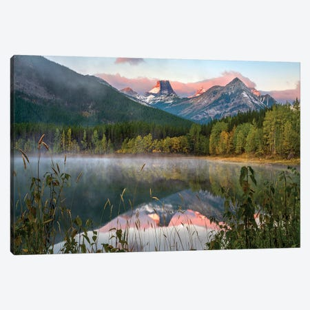 Fortress Mountain From Wedge Pond, Kananaskis Country, Alberta, Canada Canvas Print #TFI1205} by Tim Fitzharris Canvas Artwork