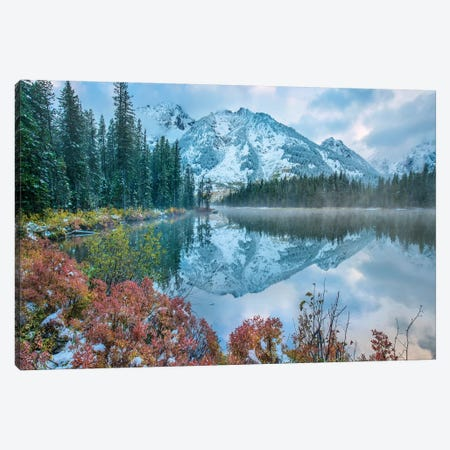 Grand Tetons From String Lake, Grand Teton National Park, Wyoming I Canvas Print #TFI1206} by Tim Fitzharris Canvas Art