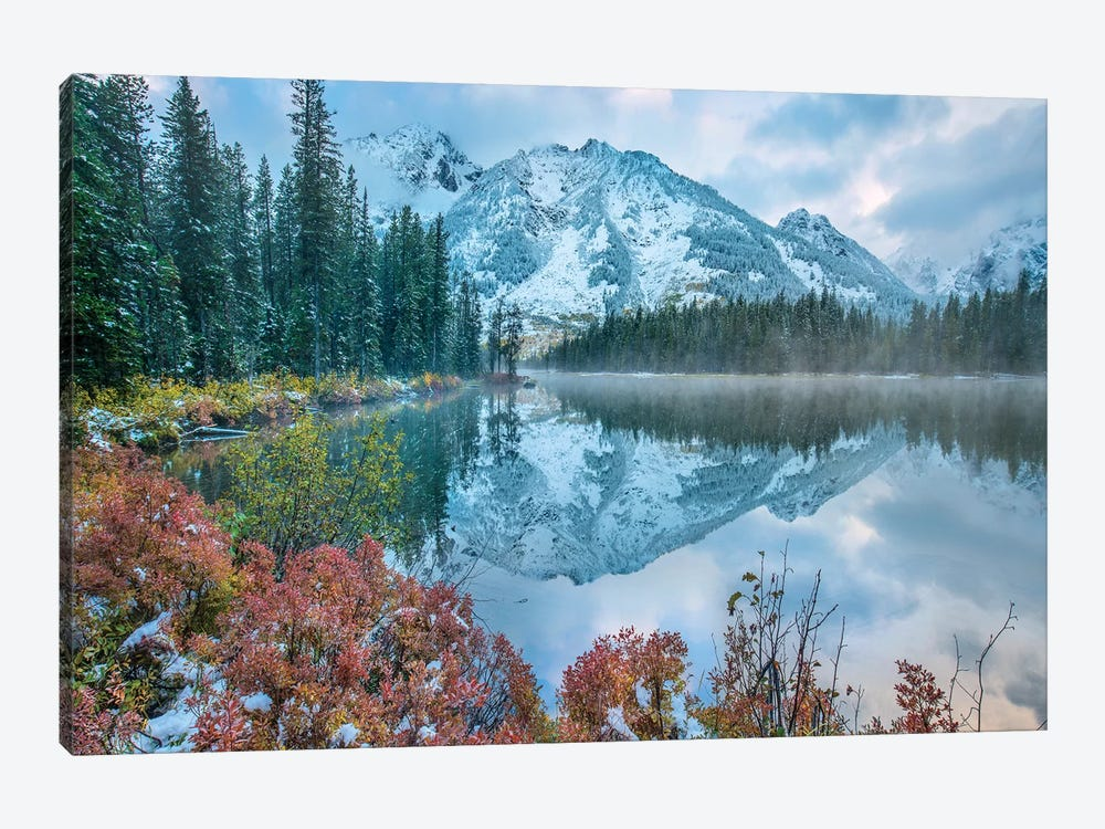Grand Tetons From String Lake, Grand Teton National Park, Wyoming I by Tim Fitzharris 1-piece Canvas Wall Art