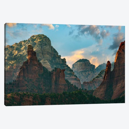 Mountains, Red Rock-Secret Mountain Wilderness, Arizona II Canvas Print #TFI1215} by Tim Fitzharris Art Print