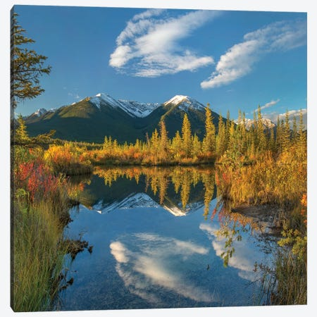 Peaks, Sundance Range, Vermilion Lakes, Banff National Park, Alberta, Canada II Canvas Print #TFI1218} by Tim Fitzharris Canvas Artwork