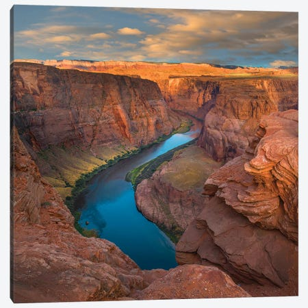 River In Canyon, Horseshoe Bend, Colorado River, Glen Canyon, Arizona Canvas Print #TFI1220} by Tim Fitzharris Canvas Art Print