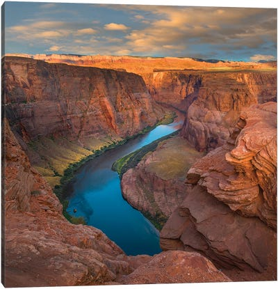 River In Canyon, Horseshoe Bend, Colorado River, Glen Canyon, Arizona Canvas Art Print