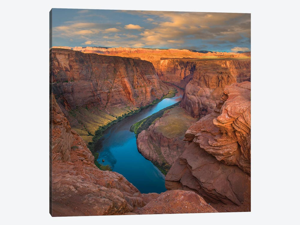 River In Canyon, Horseshoe Bend, Colorado River, Glen Canyon, Arizona by Tim Fitzharris 1-piece Canvas Wall Art