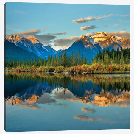 Rocky Mountains From Vermilion Lakes, Banff National Park, Alberta, Canada Canvas Print #TFI1221} by Tim Fitzharris Canvas Art Print