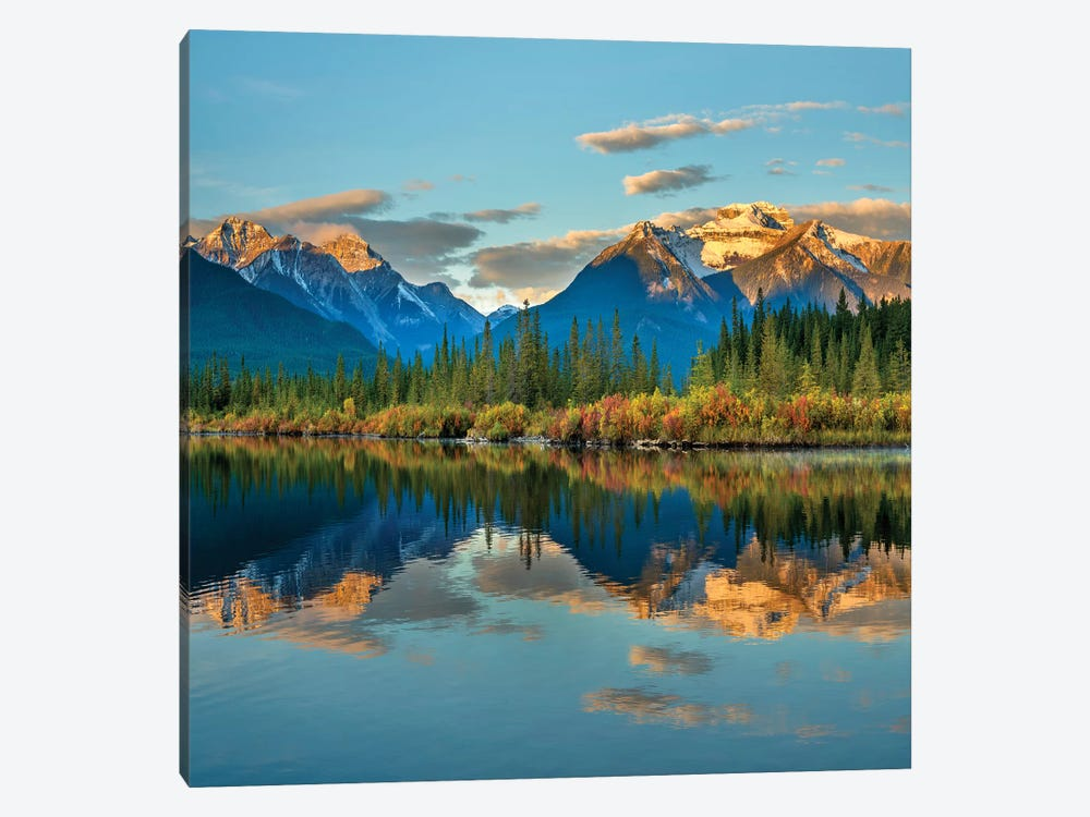 Rocky Mountains From Vermilion Lakes, Banff National Park, Alberta, Canada 1-piece Canvas Art Print