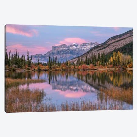 Syncline Ridge And Miette Range From Moberly Flats, Jasper National Park, Alberta, Canada Canvas Print #TFI1223} by Tim Fitzharris Art Print