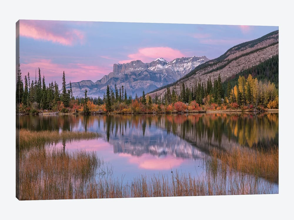 Syncline Ridge And Miette Range From Moberly Flats, Jasper National Park, Alberta, Canada by Tim Fitzharris 1-piece Canvas Art Print