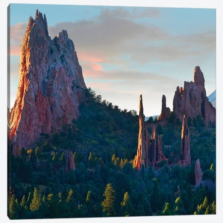 Garden of the Gods at sunrise, Colorado USA Canvas Print #TFI1235} by Tim Fitzharris Art Print