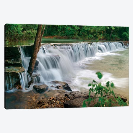 Natural Falls, Lee Creek, Arkansas, USA Canvas Print #TFI1243} by Tim Fitzharris Canvas Print