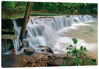 Natural Falls, Lee Creek, Arkansas, USA Canvas Art Print