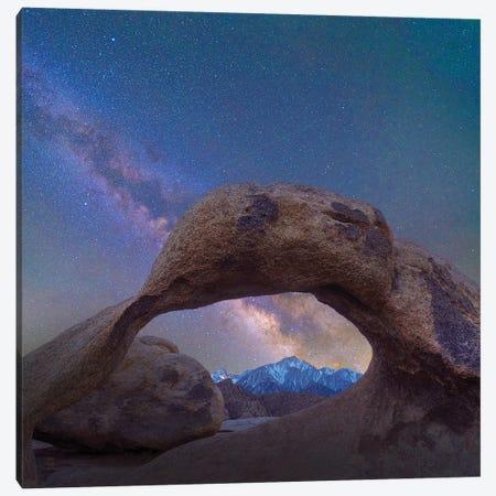 Arch And Milky Way, Alabama Hills, Sierra Nevada, California Canvas Print #TFI1254} by Tim Fitzharris Canvas Print