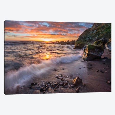 Beach At Sunset, Sonoma Coast State Park, Big Sur, California Canvas Print #TFI1260} by Tim Fitzharris Art Print