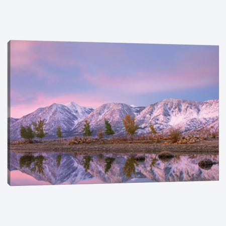 Carson River And Carson Range, Nevada Canvas Print #TFI1276} by Tim Fitzharris Canvas Print