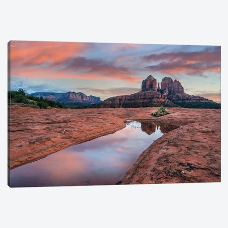 Cathedral Rock At Sunset, Coconino National Forest, Arizona Canvas Print #TFI1277} by Tim Fitzharris Art Print