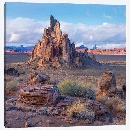 Church Rock, Monument Valley, Arizona Canvas Print #TFI1282} by Tim Fitzharris Canvas Art Print