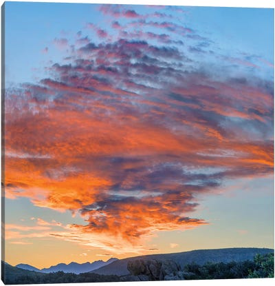 Clouds At Sunset, Black Canyon Of The Gunnison National Park, Colorado Canvas Art Print
