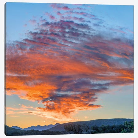 Clouds At Sunset, Black Canyon Of The Gunnison National Park, Colorado Canvas Print #TFI1285} by Tim Fitzharris Canvas Wall Art