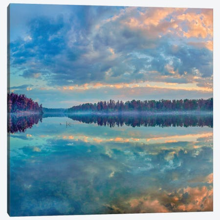 Clouds, Lake Jean, Ricketts Glen State Park, Pennsylvania Canvas Print #TFI1286} by Tim Fitzharris Canvas Wall Art