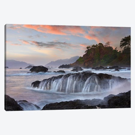 Coastal Rocks, Roca Loca Point, Jaco, Costa Rica 3-Piece Canvas #TFI1288} by Tim Fitzharris Canvas Print