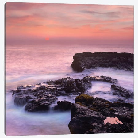 Coastal Sunset, Pu'Uhonua, Big Island, Hawaii 3-Piece Canvas #TFI1289} by Tim Fitzharris Art Print
