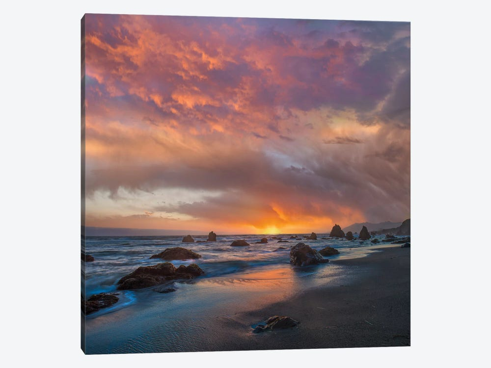 Coatal Sunset Near Arch Rock, California by Tim Fitzharris 1-piece Canvas Print
