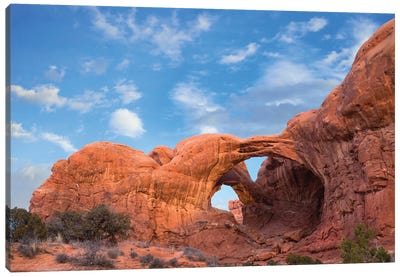 Double Arch, Arches National Park, Utah Canvas Art Print
