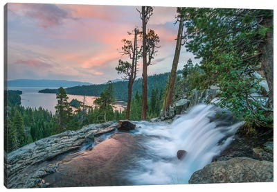 Eagle Falls And Emerald Bay, Lake Tahoe, California Canvas Art Print