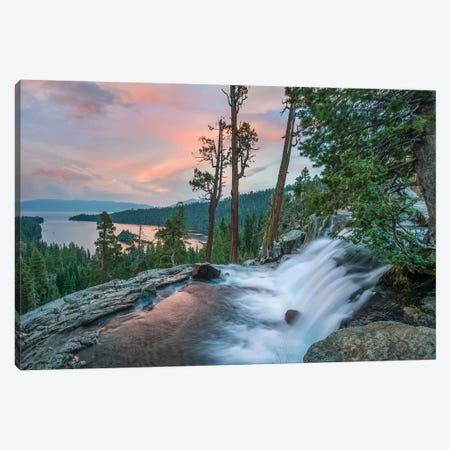 Eagle Falls And Emerald Bay, Lake Tahoe, California Canvas Print #TFI1314} by Tim Fitzharris Canvas Wall Art