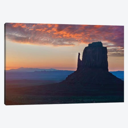 East Mitten Butte At Sunrise, Monument Valley, Arizona Canvas Print #TFI1315} by Tim Fitzharris Canvas Wall Art