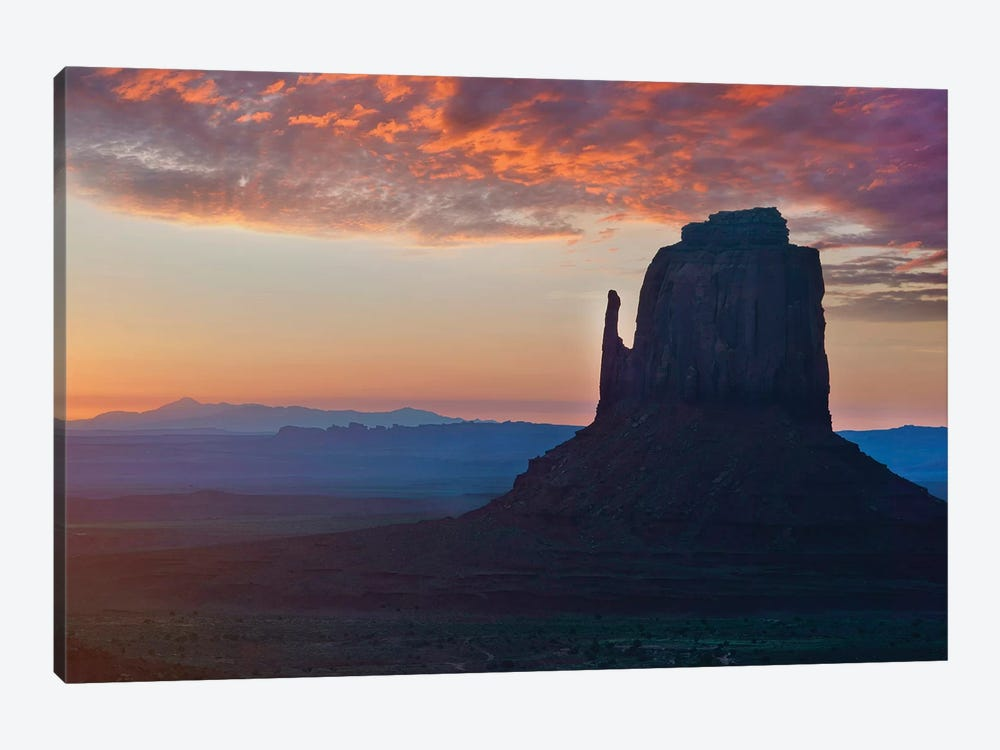 East Mitten Butte At Sunrise, Monument Valley, Arizona by Tim Fitzharris 1-piece Canvas Art Print