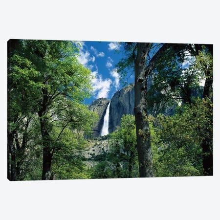 Bridal Veil Falls Tumble 620 Feet To The Valley Floor, Yosemite National Park, California Canvas Print #TFI131} by Tim Fitzharris Canvas Artwork
