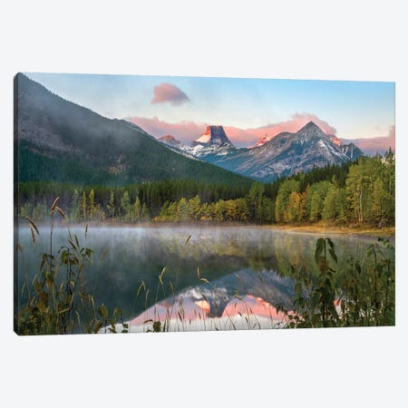 Fortress Mt From Wedge Pond, Kananaskis Country, Alberta Canvas Print #TFI1320} by Tim Fitzharris Canvas Wall Art