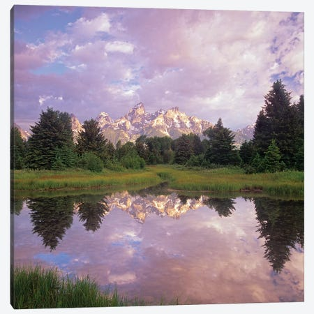 Grand Teton Reflection, Grand Teton National Park, Wyoming Canvas Print #TFI1323} by Tim Fitzharris Canvas Wall Art