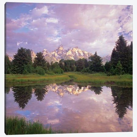 Grand Teton Reflection, Grand Teton National Park, Wyoming Canvas Print #TFI1323} by Tim Fitzharris Canvas Wall Art
